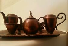 Antique Brass minature tea set from china