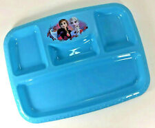 NEW Zak! Disney FROZEN 2 II Elsa Anna Divided PLATE Mealtime Section Tray BLUE