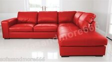 BRAND NEW WESTPOINT BIG CORNER SOFA IN RED FAUX LEATHER RIGHT HAND SIDE