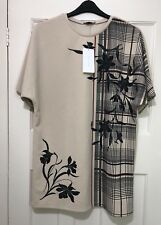 Zara Ecru/Sand Rubberised Dress With Short Sleeves Size M BNWT REF.5580/245