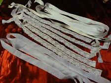 scrabooking?? créations??9,50 en tout  lot blanc galon,ruban ,élastique dentelle