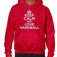 keep calm and love Handball Sudadera Con Capucha