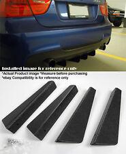 "4 Pieces 12"" x 2.87"" ABS Textured Rear Bumper Diffuser Shark Fin For BMW Audi"