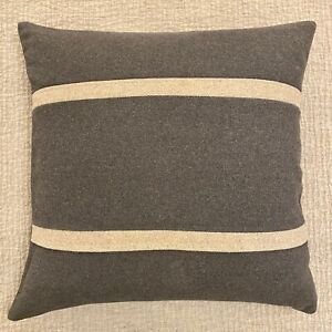Pair of BLU DOT 20x20 Square Pillow Covers in Grey & Natural Wool