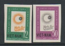 North Vietnam - 1964, Int. Quiet Sun Year set - Imperf - Mint no Gum - SG N297/8