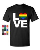 Make Love Gay Pride LGBTQ Rainbow T-Shirt  Equal Rights Tolerance
