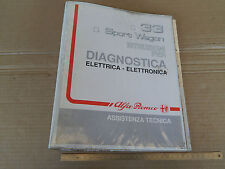 MANUALE ORIGINALE DIAGNOSI ELETTRONICA ALFA ROMEO 33 SPORT WAGON 17 16v I.E. ETC
