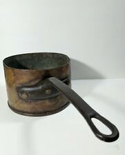 Antique Copper Pot Signed Hand-Made Forged Riveted Beautiful Pan Large Huge