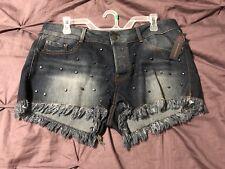 No Boundaries Gunmetal Studded Shorts Size 15