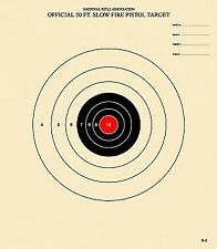 B-2 Rc - Red Center - Non-Official Nra Target - 100 Target Pack