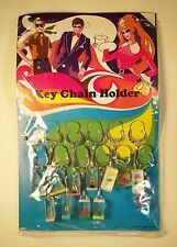 Vintage 1970's Set of 12 Mod Lucite Keychains - Hong Kong