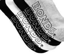 4 X Bonds Mens Logo Light Quarter Crew Socks