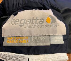 Regatta Waterproof Trousers 3/4 Years 104 EUR Blue