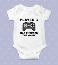 Player 3 Has Entered The Game Baby Bodysuit   Baby Shower Gift   Cute Baby Cloth