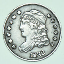 More details for usa, united states capped bust silver half dime, 5₵, 1832 coin aef/ef