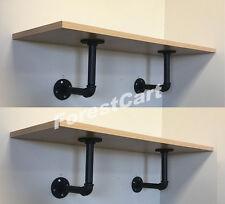 "2x 33"" Maple Bookshelf Wall Shelf Industrial Stand Rack Organizer Decor 44lbs"