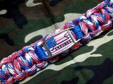 Custom INFIDEL Proud American Anti-Terrorism 550lb Paracord Key Fob w/ Carabiner