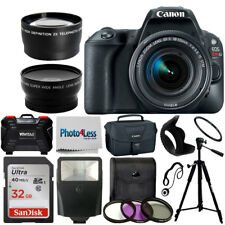 Canon Rebel SL2 DSLR Camera 18-55mm 3 Lens Kit + 32GB Top Value Accessory Bundle