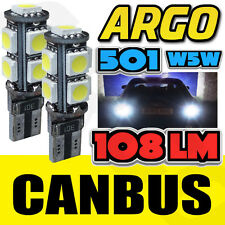 AUDI A4 S4 B6 00-04 BRIGHT CANBUS LED SIDE LIGHT 501 W5W T10 9 SMD WHITE BULBS