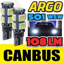 2 x 9 Smd Blanc Canbus Sans Erreur 501 Ampoules éclairage latéral PIAGGIO-VESPA lx 125