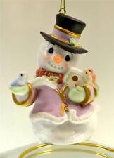 Precious Moments Ornament Snowman w/ Birds & Birdhouse 131025 Bx FreeusaShp