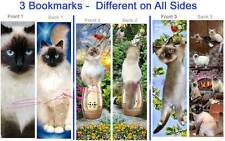 3-Birman Cat Bookmark Ragdoll Himalayan Long Hair Siamese Art Book Card Figurine