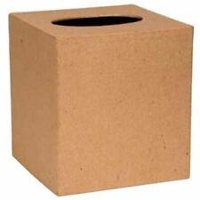 Ready to Personalize Plain Paper Mache Tissue Box