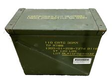 Military 30mm AMMO CAN M592 1500 ROUNDS 7.62 METAL LARGE AMMO CAN EXCELLENT