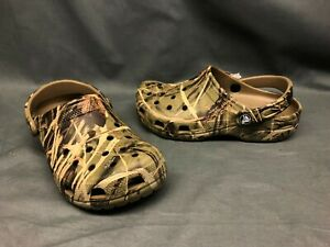 Crocs Classic Clog Slip-On Realtree Max-4 Camo Boys Size 6 NEW WITH TAGS!