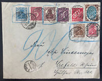 1922 Bergen Germany Early Inflation Rate Cover To Crefeld