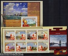 Guinea MNH SS+MS, Art, Paintings, French Painter Eugène Boudin