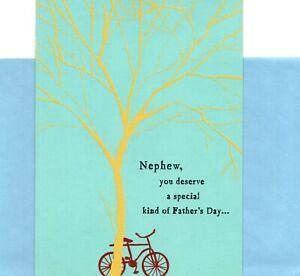 Happy Father's Day Nephew Bike Biking Theme Hallmark Greeting Card