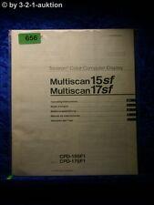 Sony Bedienungsanleitung CPD 15SF1 / 17SF1 Multiscan 15SF /17SF Display (#0656)