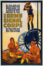 US Army Signal Corps vintage recruitment poster repro 24x36