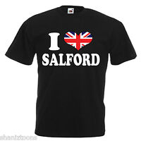 I Love Heart Salford Adults Mens T Shirt
