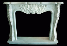 Fireplace White Marble Frame Classic Home Design