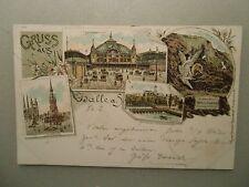 Ansichtskarte Halle a.d. Saale Litho 1896 Bahnpost