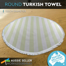 Round Turkish Towel Roundie Beach Summer Bikini Boho Tapestry Wall 150cm Lime