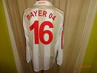 Bayer 04 Leverkusen Adidas U23 Langarm Matchworn Trikot 2007/08 + Nr.16 Gr.L