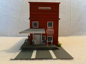 HO Scale Grocery Warehouse Wood Kit Custom Assembled