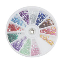 1200pcs 12 coleurs Nail Art Strass Glitter Ongles Décoration Manucure chic bling