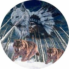 4x4 Spare Wheel Cover 4 x 4 Camper Camper Graphic Vinyl Sticker Wolves 105