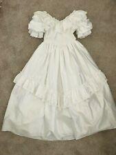 PRONUPTIA Vintage White Holy Communion Dress, Lace Victorian, Girls Size