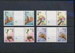 LN71989 Tuvalu culture & nature gutter pairs MNH