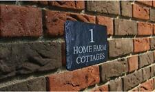 Personalised Natural Slate House Name Door Gate Number Sign Plaque 180mm x 120mm