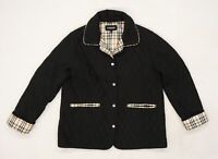 Finesse Womens Black   Quilted Coat Size 14