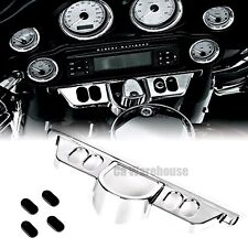 1X Chrome Switch Dash Panel Accent Cover For Harley Touring Tri Glide FLHT 96-13