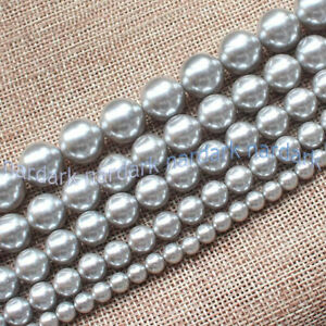 """Wholesale 6/8/10/12mm Multi-Color South Sea Shell Pearl Round Loose Beads 15"""" AA"""