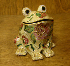 Victorian Treasures #A50-4 FROG, Beige w/ pink, NEW from Retail Shop, MIB