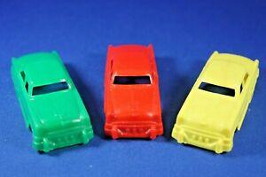 Plasticville - O-O27 - #V-6 - Original vintage 3 Autos - Excellent+++++